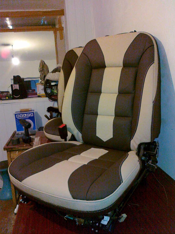 обшивка сидения в кожу