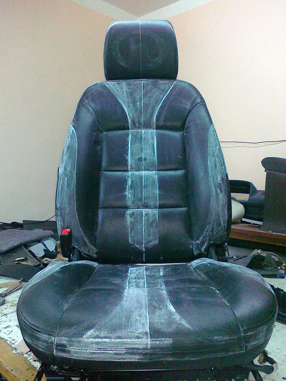 обшивка сидения в кожу подготовка